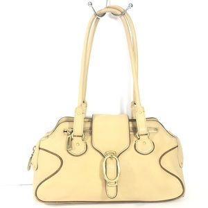 Cole Haan Cream Leather hand bag